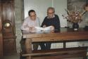 Jacques Berthier et son librettiste, le Père Didier Rimaud, à Barfleur (Cotentin), 1990